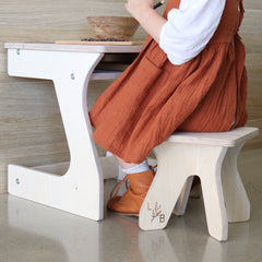kids stool and table