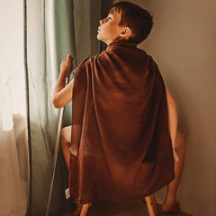 brown play silk cape