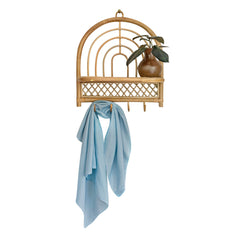 blue play silk on shelf