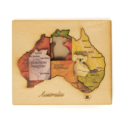wooden double layer puzzles colour