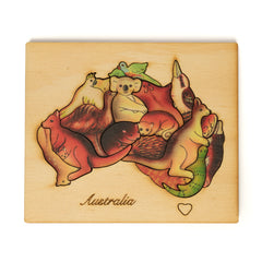 wooden Australian animal puzzle colour