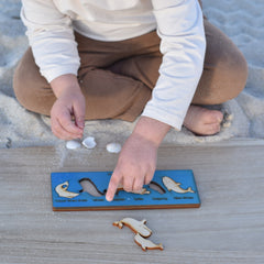 wooden bar puzzle Australian sea life