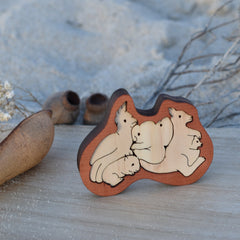 wooden pocket puzzle Australian animals