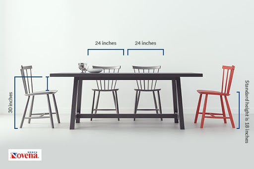 Height and Inches Of  Dining Table