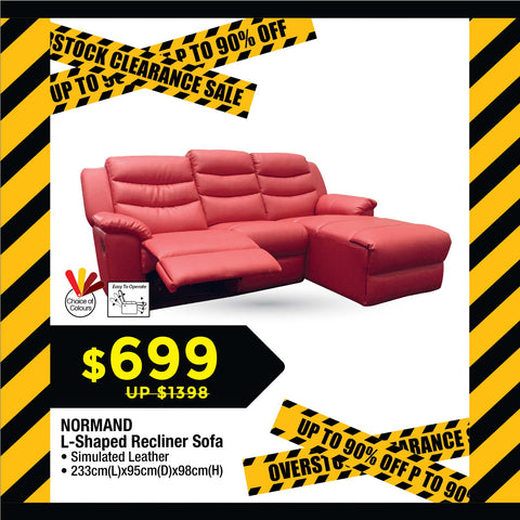 L-shaped Recliner Leather Sofa