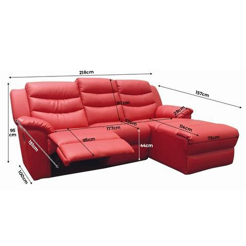 Normand 2 Seater Recliner Sofa, Simulated Leather