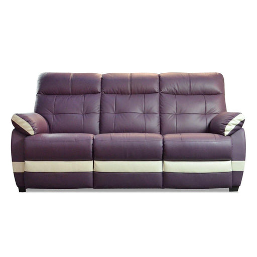 Adon 3 Seater Sofa, Half Leather - Novena Furniture Singapore