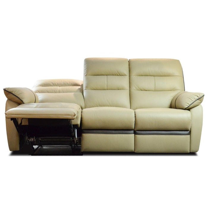 Apollos 3 Seater Recliner Sofa, Half Leather