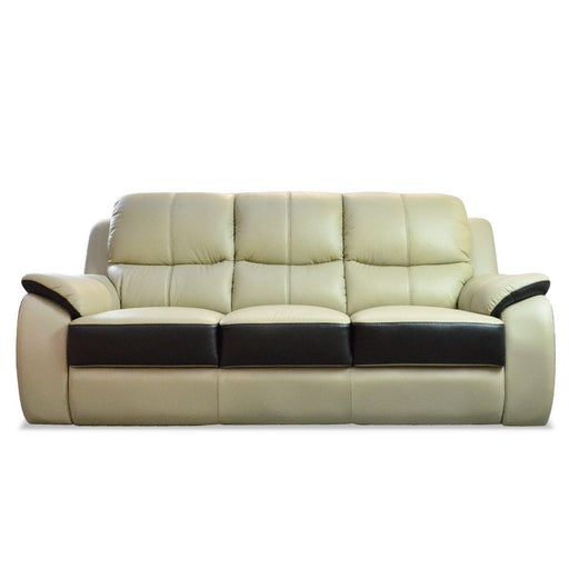 Brisbane 3 Seater Sofa, Half Leather - Novena Furniture Singapore
