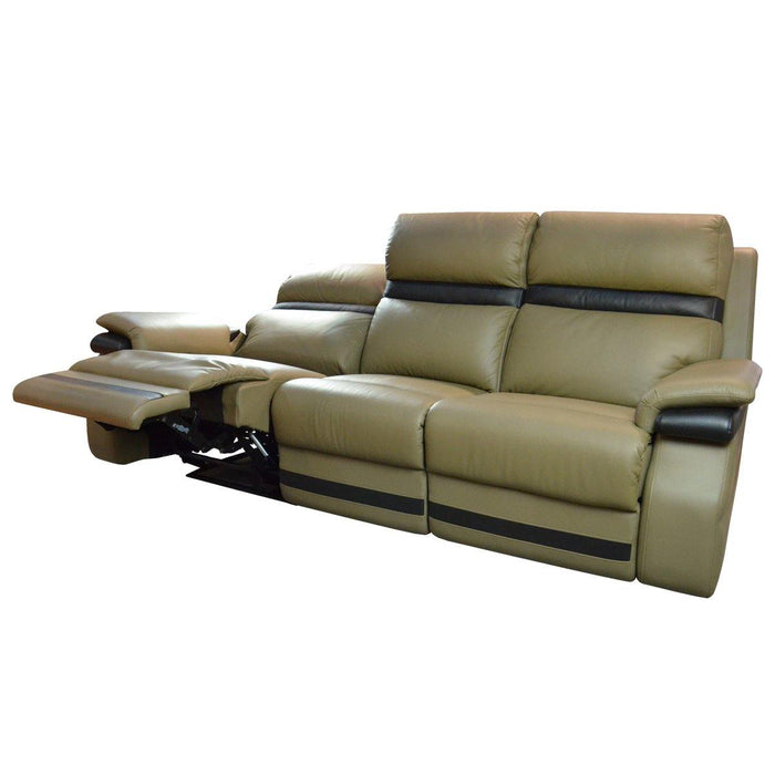 Jaiman 3 Seater Recliner Sofa, Half Leather - Novena Furniture Singapore - Recliners