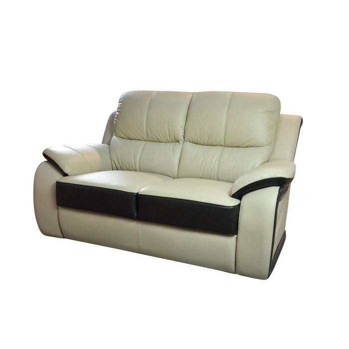 Brisbane 2 Seater Sofa, Half Leather - Novena Furniture Singapore