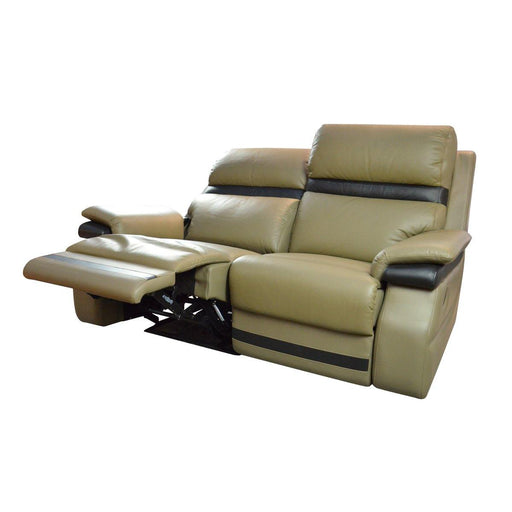 Jaiman 2 Seater Recliner Sofa, Half Leather - Novena Furniture Singapore