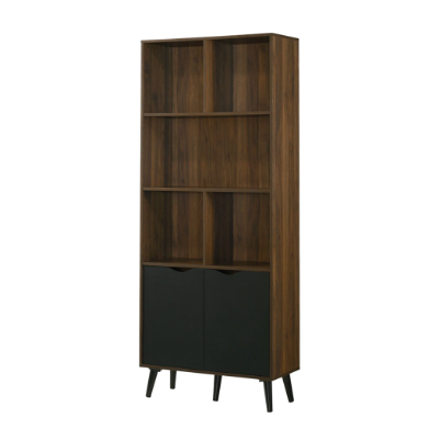 Ace Book Case, MDF with Solid Wood Legs - Novena Furniture Singapore