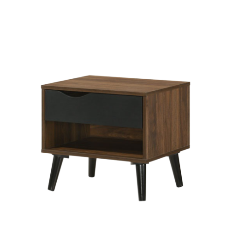 Ace Side Table, MDF with Solid Wood Legs - Novena Furniture Singapore