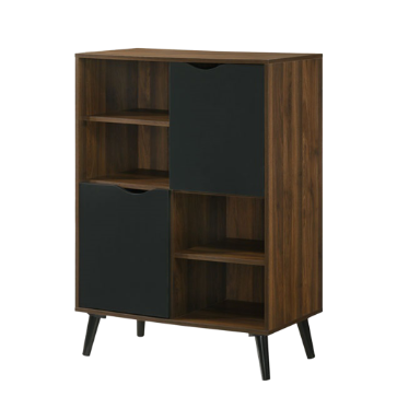 Ace Multi Function Cabinet, MDF with Solid Wood Legs - Novena Furniture Singapore