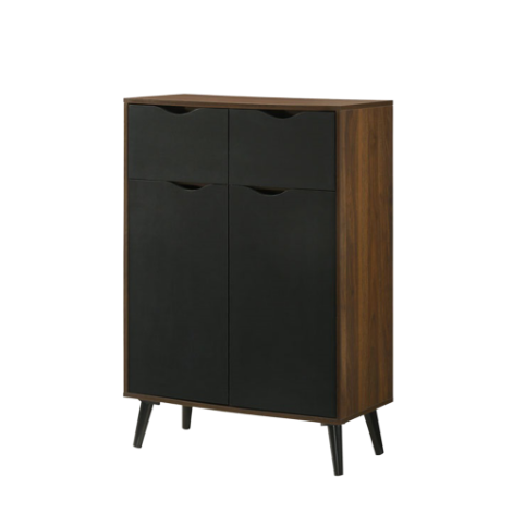 Ace Shoe Cabinet, MDF with Solid Wood Legs - Novena Furniture Singapore