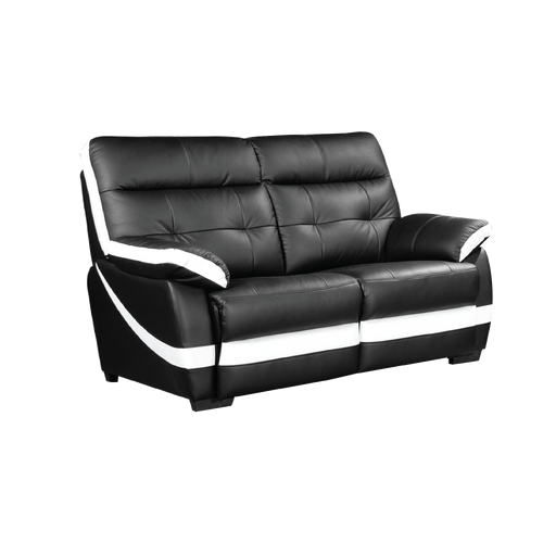 Adon 2 Seater Sofa, Half Leather - Novena Furniture Singapore