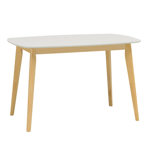 Aimon 1.2m Dining Table, MDF Top with Solid Wood Legs - Novena Furniture Singapore