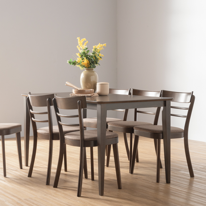 Alena 1.4M Dining Table, Rubber Wood - Novena Furniture Singapore