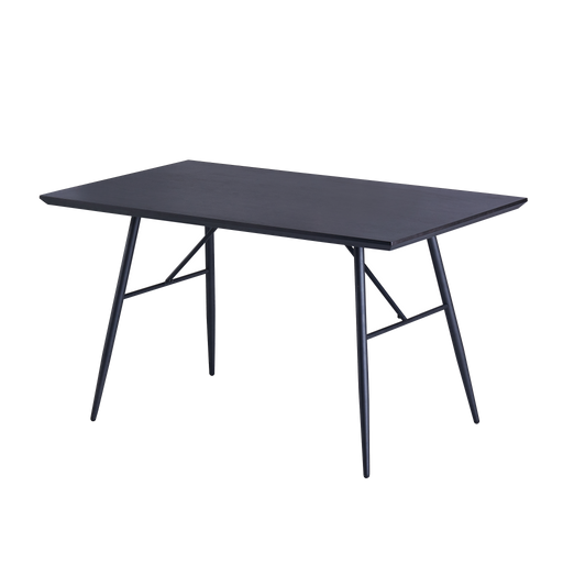 Annette 1.4m Dining Table, MDF Top with Metal Legs - Novena Furniture Singapore - Dining Tables