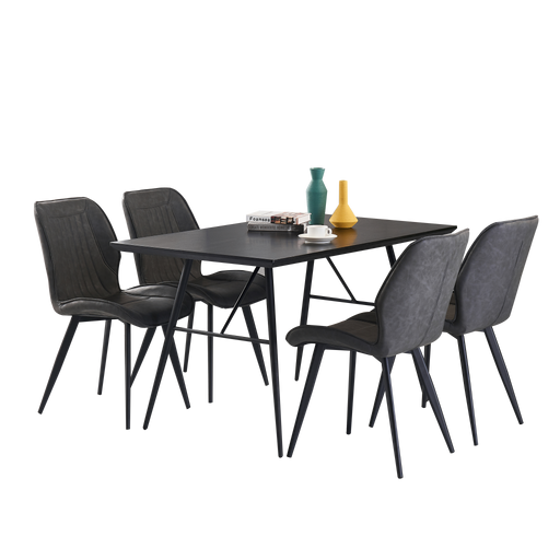 Annette 1.4M Dining Set (Includes 4 Allan Dining Chairs!) - Novena Furniture Singapore - Dining Tables