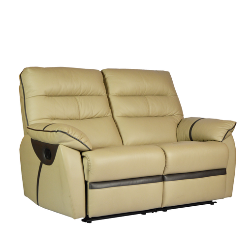 Apollos 2 Seater Recliner Sofa, Half Leather - Novena Furniture Singapore