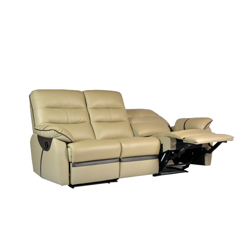 [PROMO] Apollos 3 Seater Recliner Sofa, Half Leather - Novena Furniture Singapore
