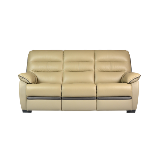 Apollos 3 Seater Sofa, Half Leather - Novena Furniture Singapore