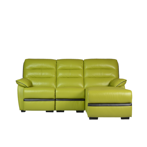 Apollos L-Shaped Sofa, Half Leather - Novena Furniture Singapore