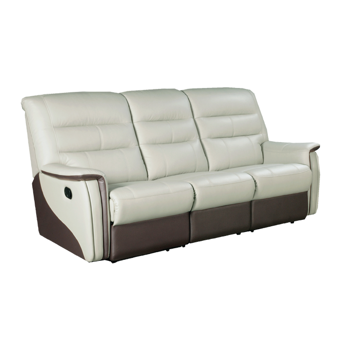Avim 3 Seater Recliner Sofa, Half Leather