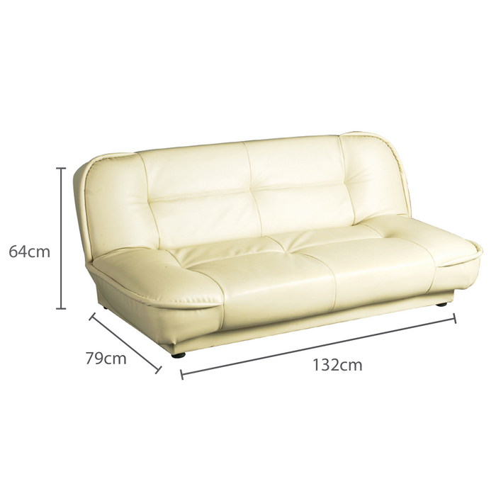 Bliss 2 Seater Sofabed, Synthetic Leather - Novena Furniture Singapore