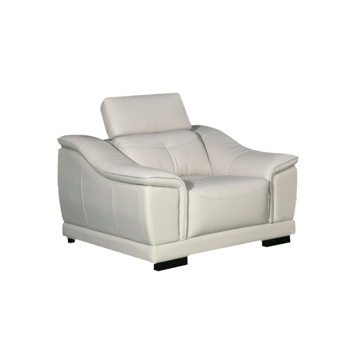 Carlo 1 Seater Sofa, Half Leather - Novena Furniture Singapore