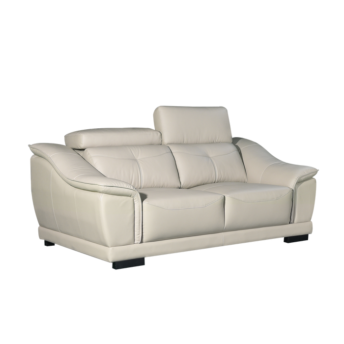 Carlo 2 Seater Sofa, Half Leather - Novena Furniture Singapore