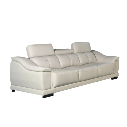 Carlo 3 Seater Sofa, Half Leather - Novena Furniture Singapore