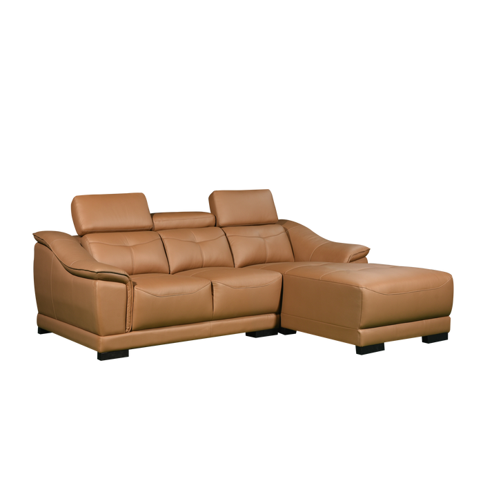Carlo L-Shaped Sofa, Half Leather - Novena Furniture Singapore
