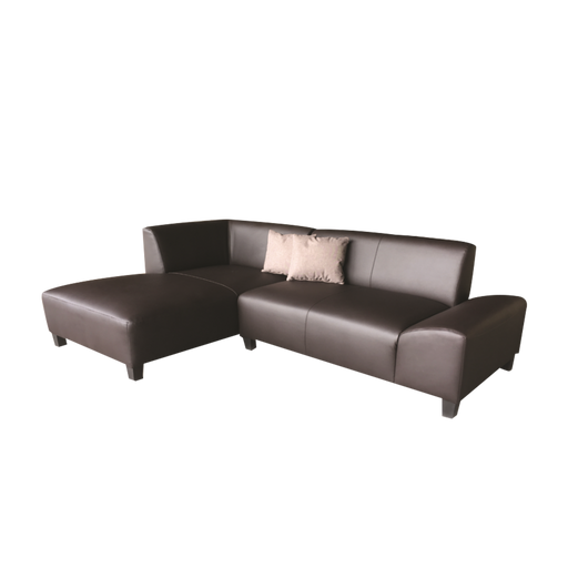 [ONLINE EXCLUSIVE] Delta L-Shaped Sofa, Synthetic Leather - Novena Furniture Singapore - Sofas