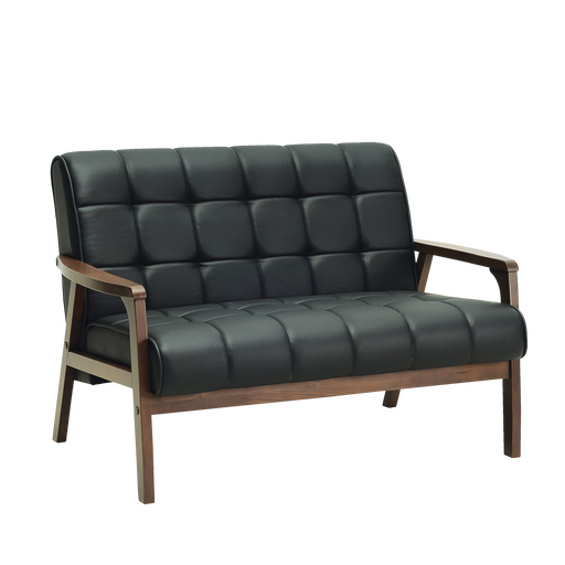 [ONLINE EXCLUSIVE] Tucson 2 Seater Sofa, Vinyl Leather with Solid Wood - Cocoa/Espresso - Novena Furniture Singapore