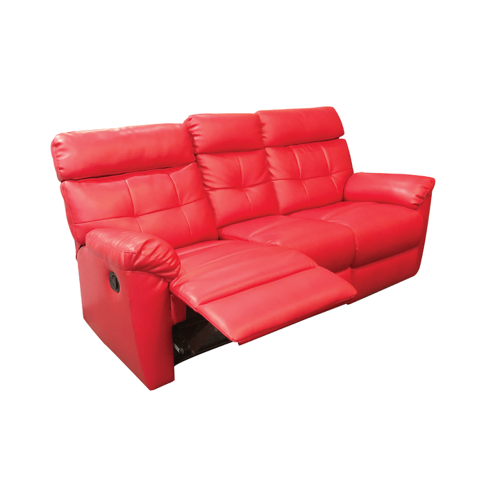 [PROMO] Emma 3 Seater Recliner Sofa, Simulated Leather - Novena Furniture Singapore