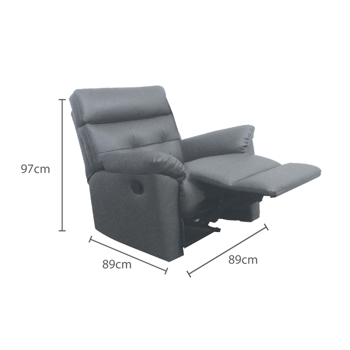 [PROMO] Emma Recliner Armchair, Simulated Leather - Novena Furniture Singapore