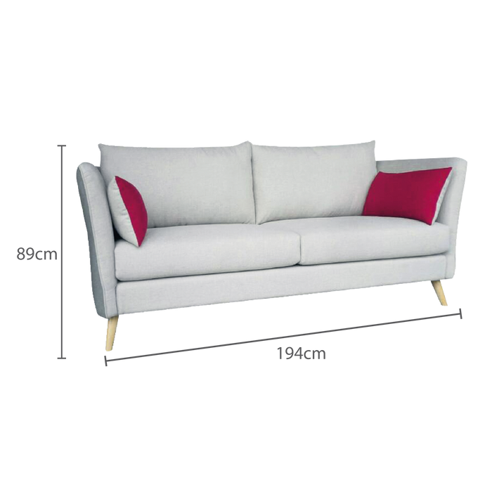 Finny 3 Seater Sofa, Fabric