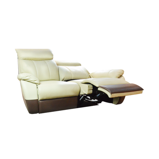 Fabia 2 Seater Recliner Sofa, Half Leather - Novena Furniture Singapore