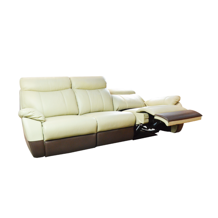 Fabia 3 Seater Recliner Sofa, Half Leather