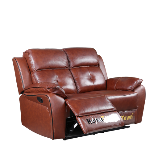 Genvea 2 Seater Recliner Sofa, Half Leather - Novena Furniture Singapore