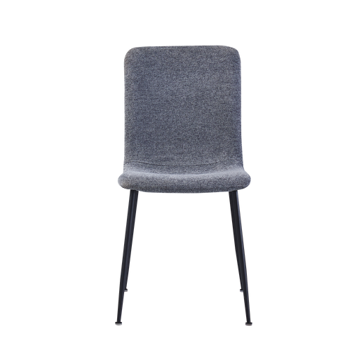 Isabel Dining Chair, Fabric - Dark Grey - Novena Furniture Singapore - Dining Chairs