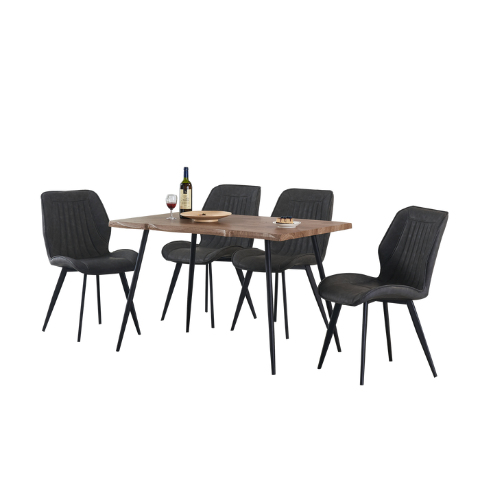 Isabel 1.2m Dining Set (Includes 4 Allan Dining Chairs!) - Novena Furniture Singapore