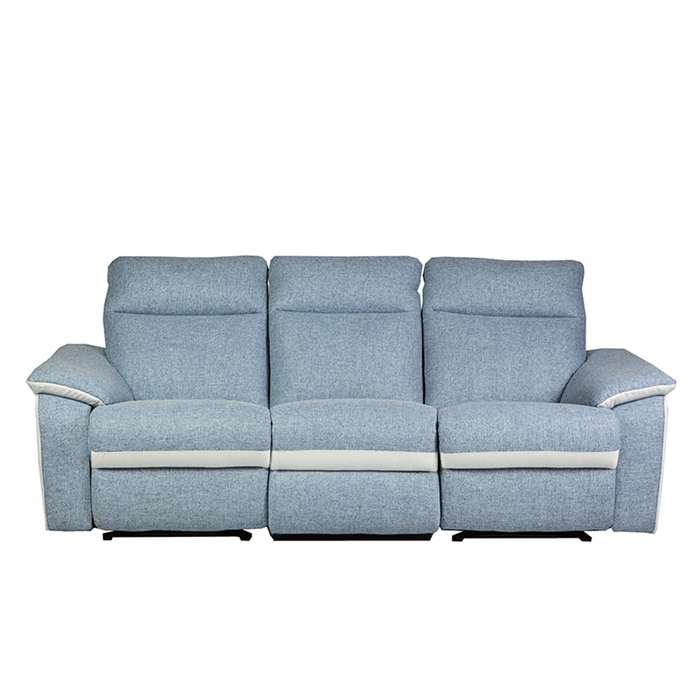 ISSAC 3 Seater Recliner Sofa, Fabric - Novena Furniture Singapore