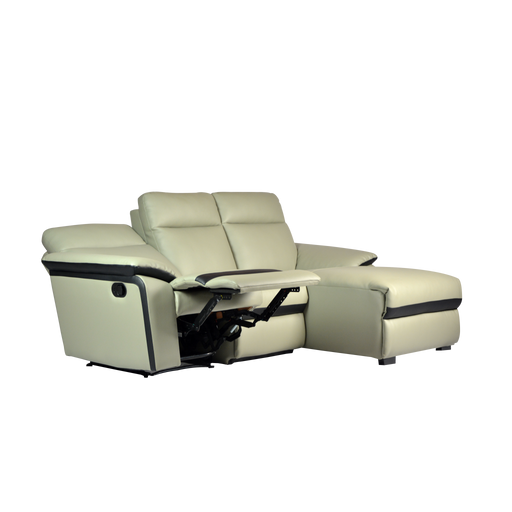 Issac L-Shaped Recliner Sofa, Simulated Leather - Novena Furniture Singapore - Recliners