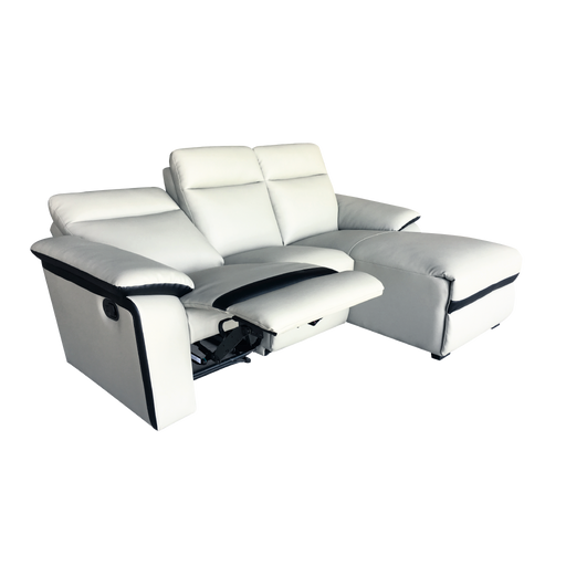 Issac L-Shaped Recliner Sofa, Simulated Leather