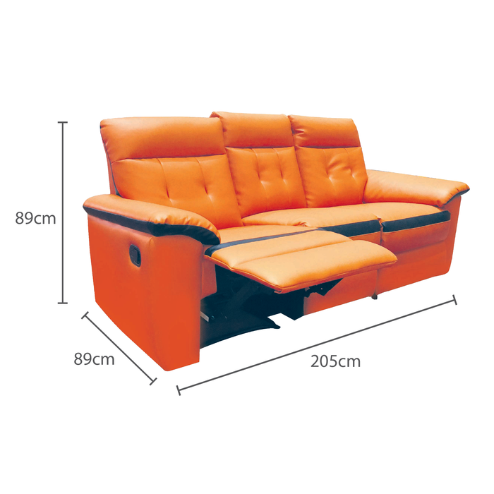 Jadyn 3 Seater Recliner Sofa, Simulated Leather