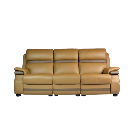 Jaiman 3 Seater Sofa, Half Leather - Novena Furniture Singapore